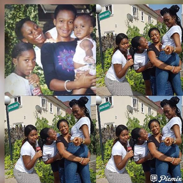 Aww! Nigerian sisters recreate their childhood photo
