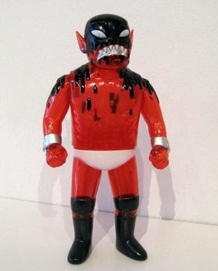 FOE Exclusive Clear Red Cannibal Fuckface Vinyl Figure by Monster Worship & Johnny Ryan