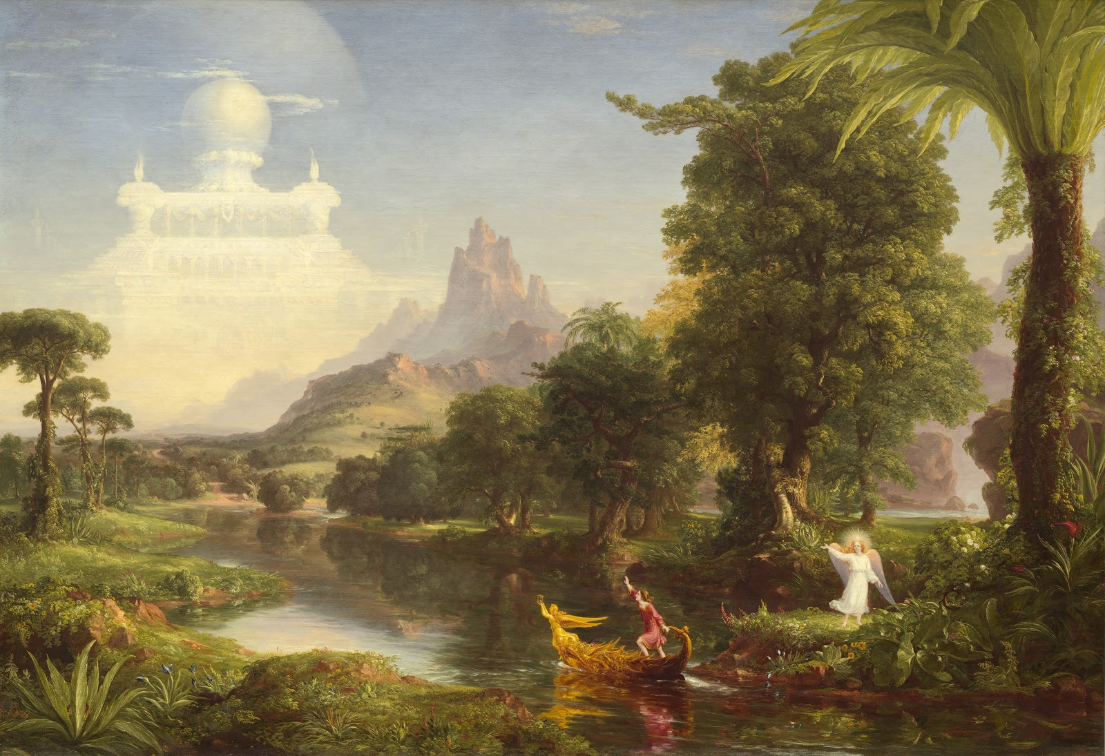 Thomas  Cole     The  Voyage  of  Life     Youth   National  Gallery  of  Art