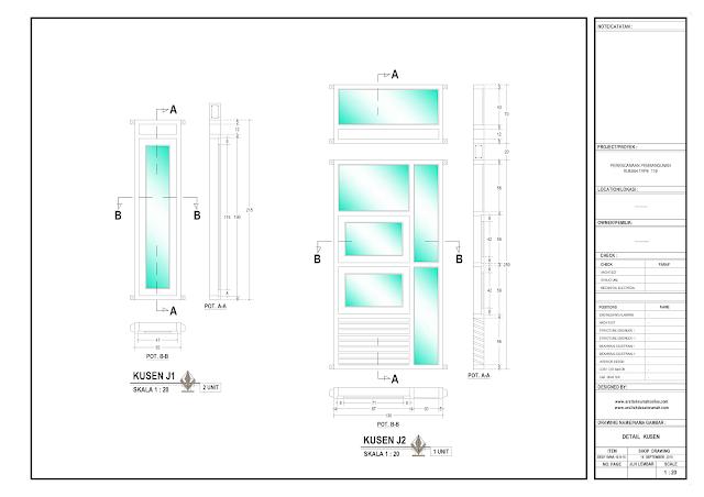 Detail Kosen Rumah Lantai 1 - J1 dan J2