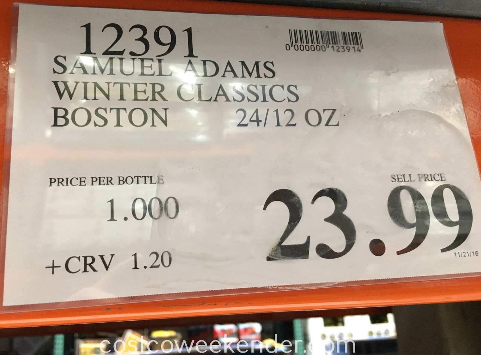 Deal for the Samuel Adams Winter Classics Collection at Costco