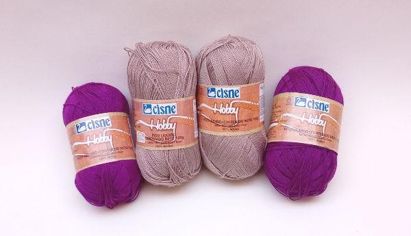 Fios Linhas Crochê Tricô Coats Corrente Cisne Hobby