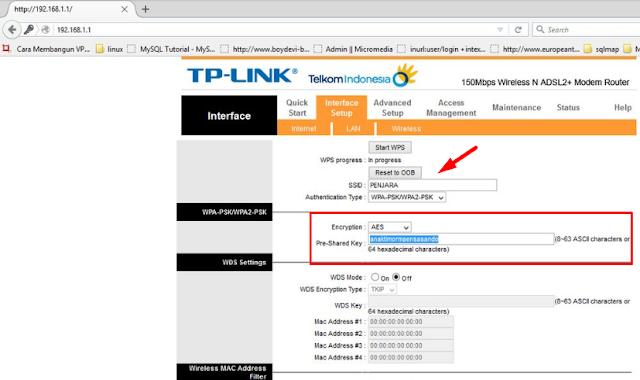 kalau berhasil login maka kamu akan lihat password dari wifi target