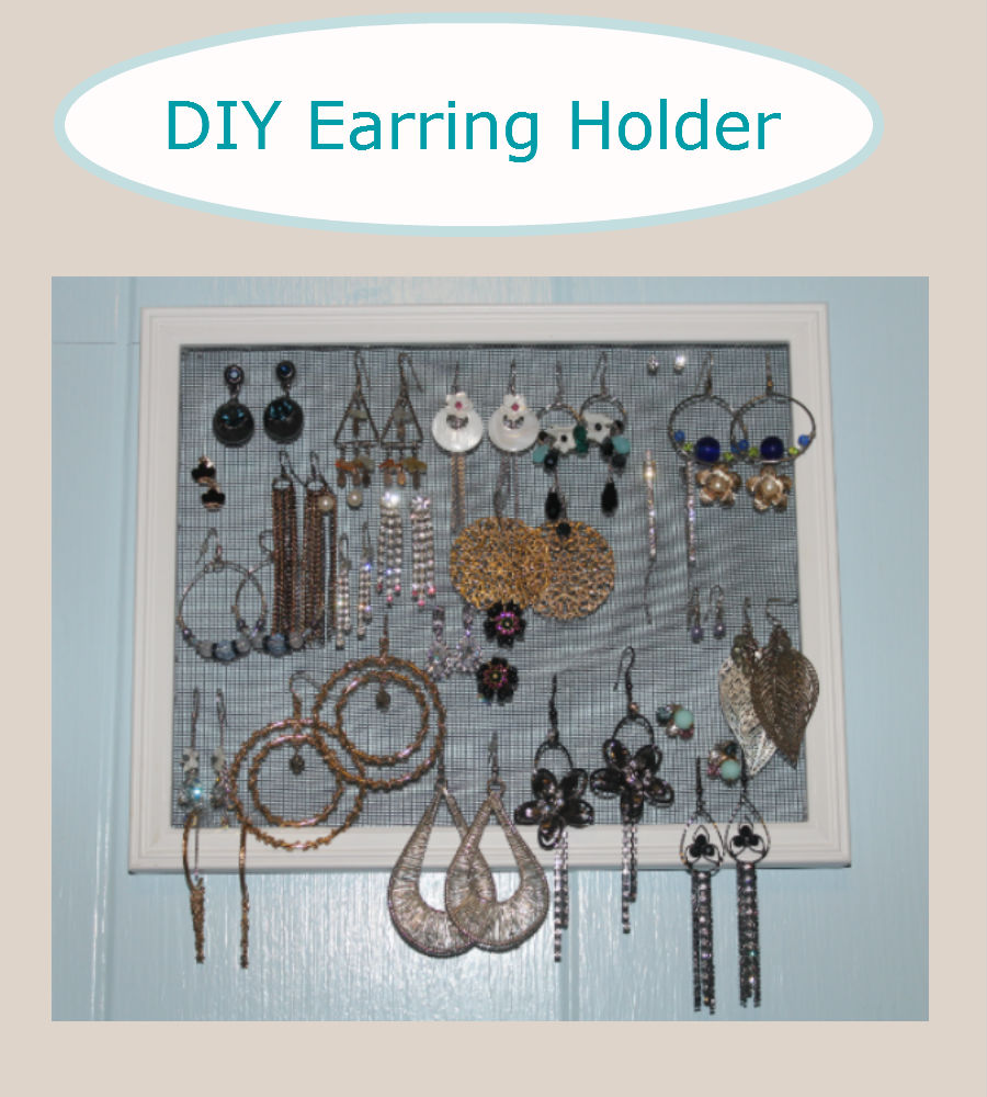 DIY: Earring Holder | Chronicles of a Beauty Foodie