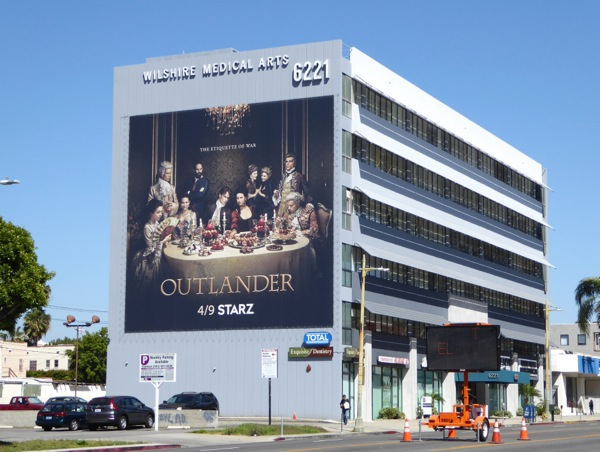 Giant Outlander season 2 billboard