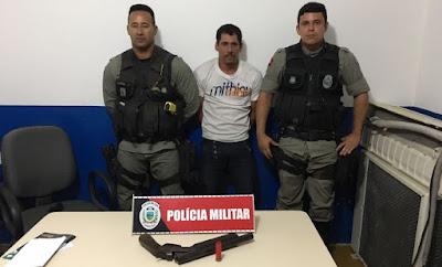 Pernambucano é preso em Nova Floresta ao tentar balear vítima