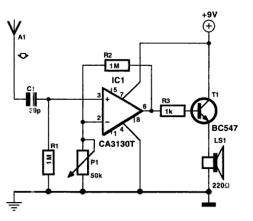 Wire Tracer (Receiver) Circuit Diagram