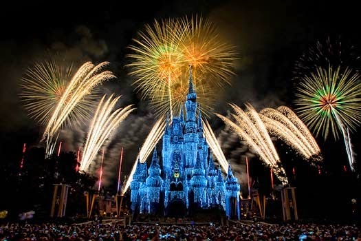 Happy New Year Eve 2016 Fireworks Orlando Florida USA Wallpaper