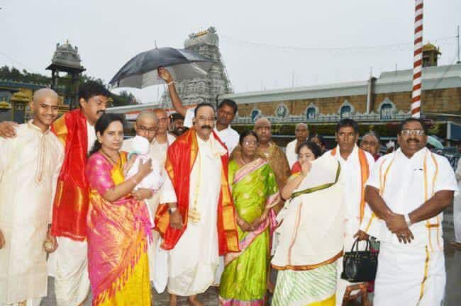 rspnetwork.in: Nayini Narasimha Reddy,Hon'ble Minister for Home and family members have taken blessings of Lord Sri Venkateswara Swamy at Thirumala
