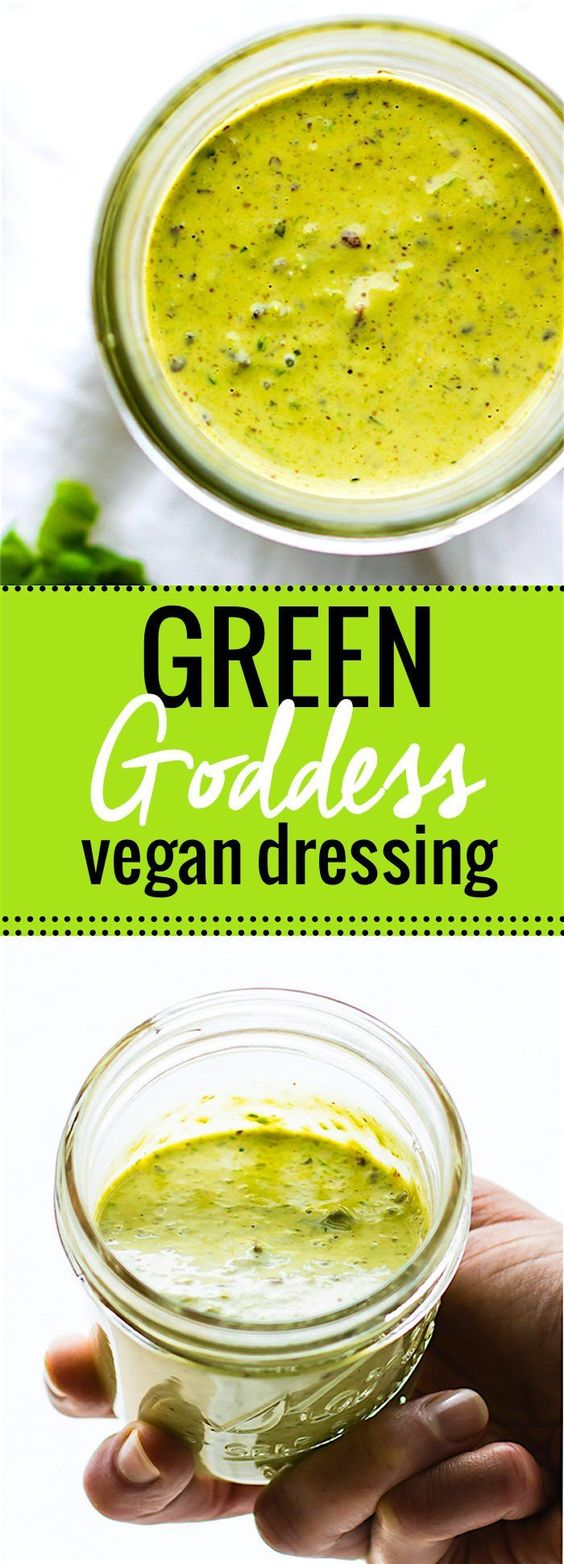 Homemade Vegan Green Goddess Dressing