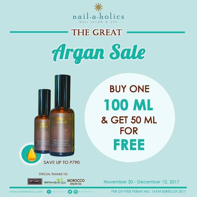 Mark your calendar! Nailaholics: Great Argan Sale Year 2 November 28 – December 12, 2017