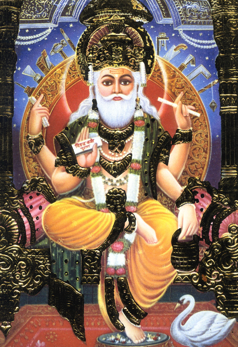 "SOLD Wood Hindu God Ganesh Statue 24"" (#65w13f): Hindu ... |Indian Hindu Gods"