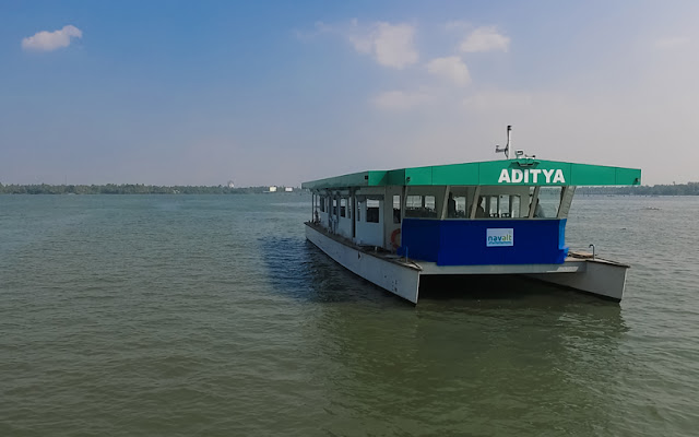solar ferry boat timing in kottayam, new solar ferry service in kerala