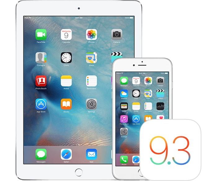 ابل تطلق التحديث iOS 9.3.2 للعامة