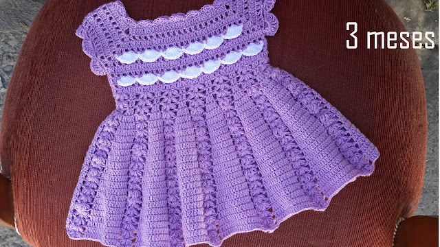 f1b2b6e69 Delicado VESTIDO BEBE a CROCHET (GANCHILLO) tutorial paso a paso, facil y  rapido - Beautiful CROCHET BABY DRESS step by step tutorial, easy and fast