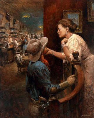 pinturas-de-caballos-y-vaqueros-arte-oleo