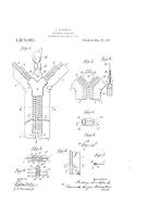 separable fastener zipper patent