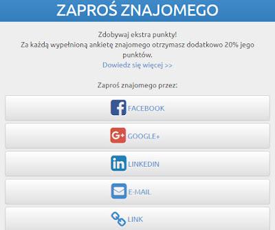 Znajomych możesz zapraszać również poprzez Facebooka, Google +, Linkedin lub e-mail.