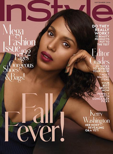 Actress, @ Kerry Washington - InStyle, September 2016