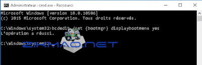 Windows 10 : activer la touche F8 bcdedit /set {bootmgr} displaybootmenu yes