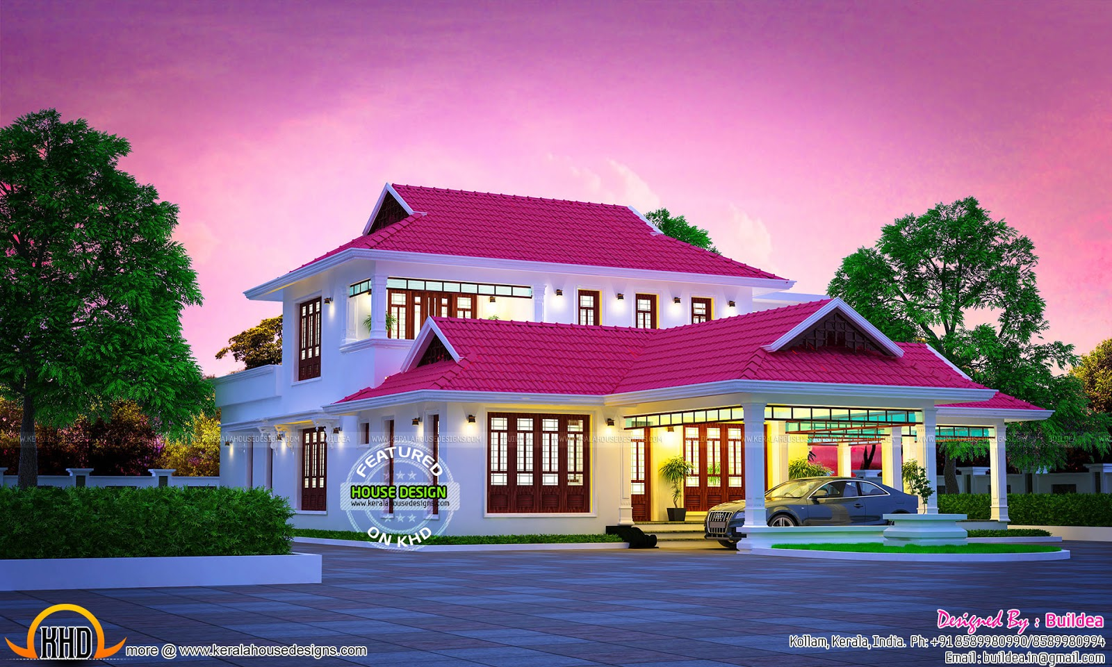 July 2016 kerala home design and floor plans - Kerala exterior model homes ...