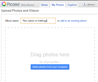 album create in picasa