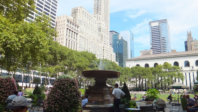 Bryant Park, New York, Manhattan, été, elisaorigami