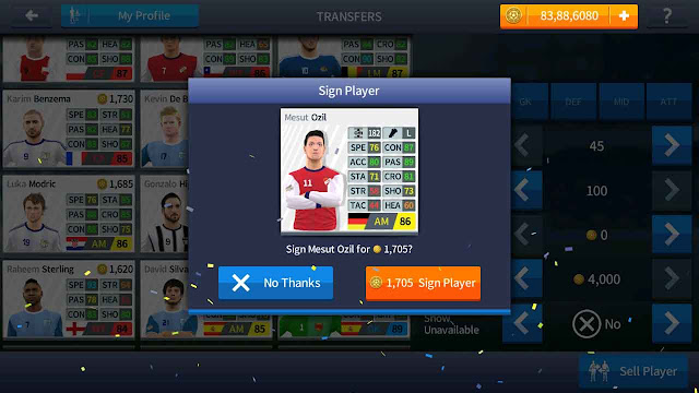 cheat pemain dream league soccer 2017