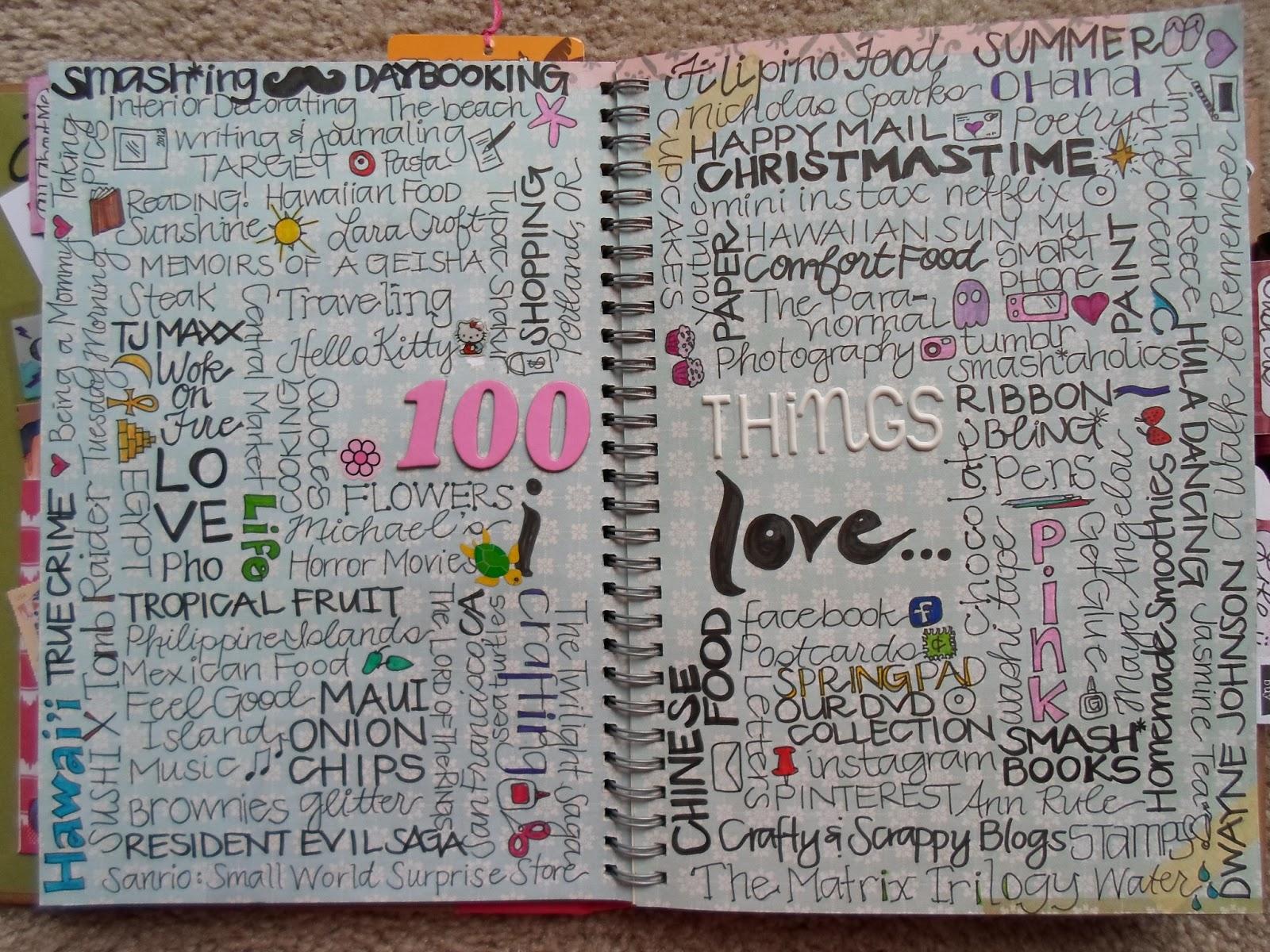 A Crafty Island Girl Smashbook 100 Things I Love