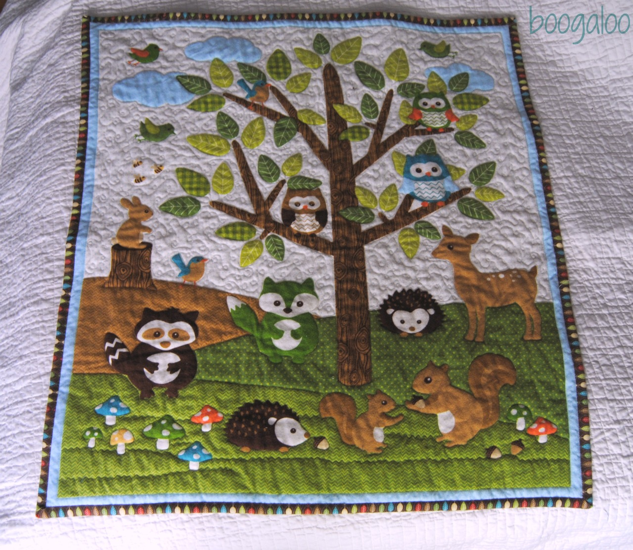 Boogaloo Forest Friends Baby Quilt