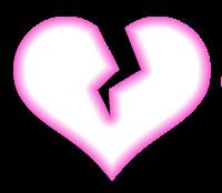 Coração partido - Criação Blog PNG-Free