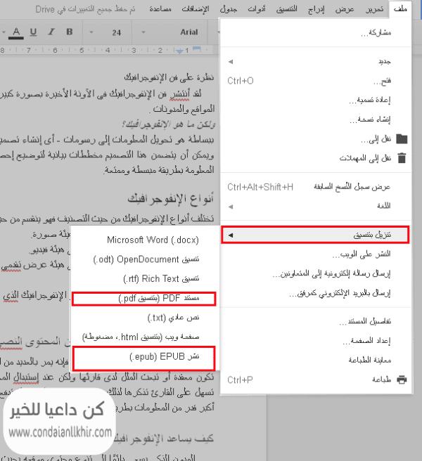 تحويل التدوينات تلقائيا الى مستندات جوجل أو كتب الكترونية