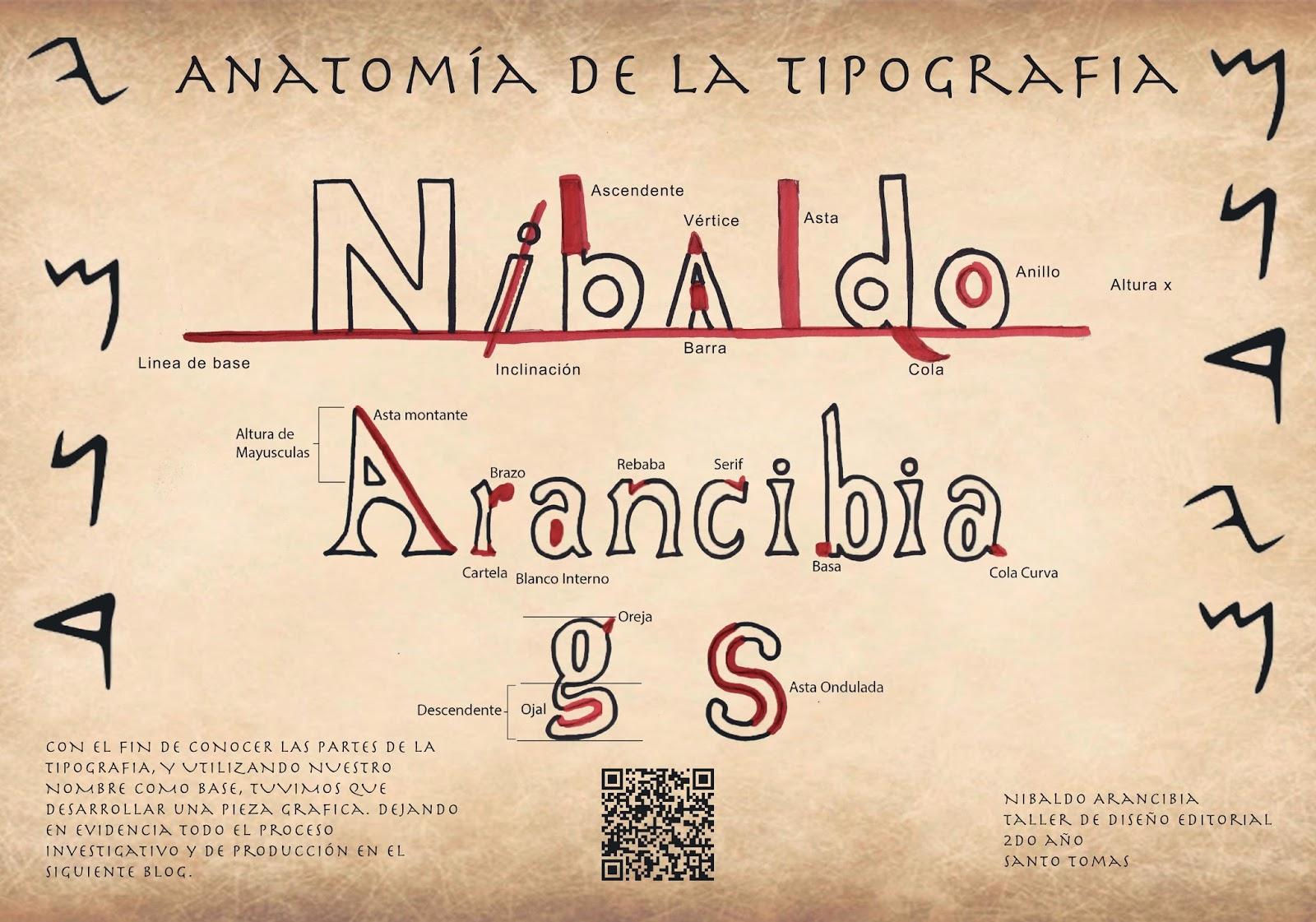 Arancibia diseño2016: Proyecto Anatomia de la Tipografia