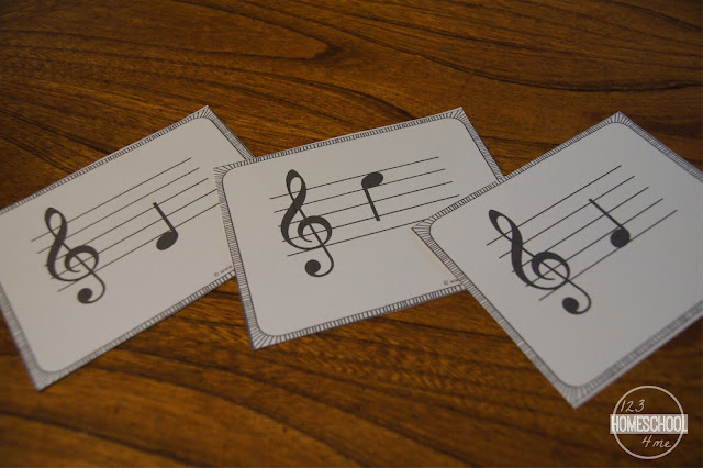 music flashcards to help kids learn music theory