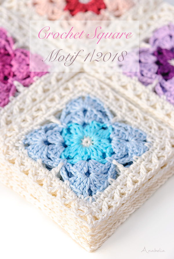 Crochet square motif 1_2018, Anabelia Craft Design