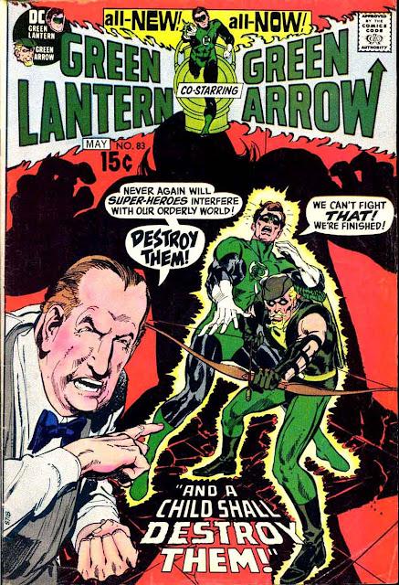 Green Lantern Green Arrow #83 dc comic book cover art by Neal Adams