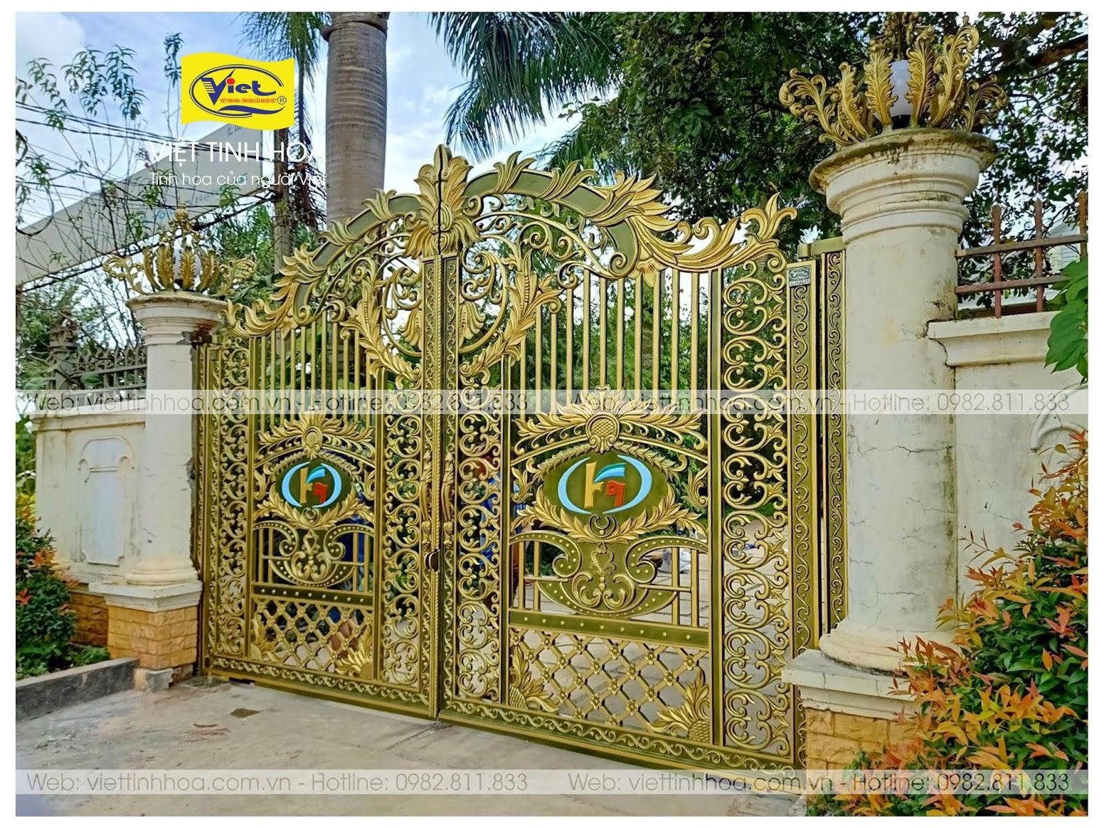 Cổng Nhôm Đúc Bình Long