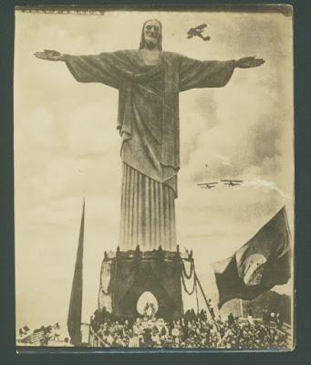 Postal da inauguração do Cristo Redentor, em 1931. Foto: Augusto Malta