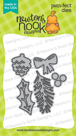 Pines & Holly Die set | Newton's Nook Designs #newtonsnook