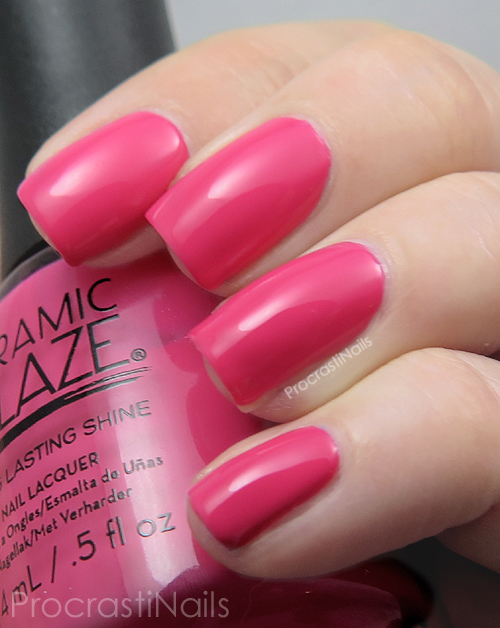 Swatch of the bright pink Ceramic Glaze Seize the Day