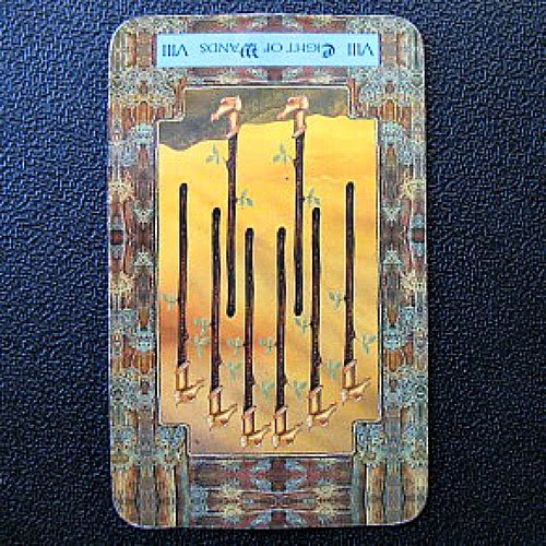 Reversed Eight of Wands