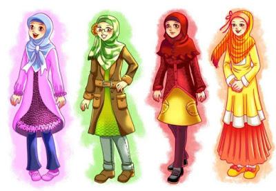 kartun persahabatan 4 muslimah