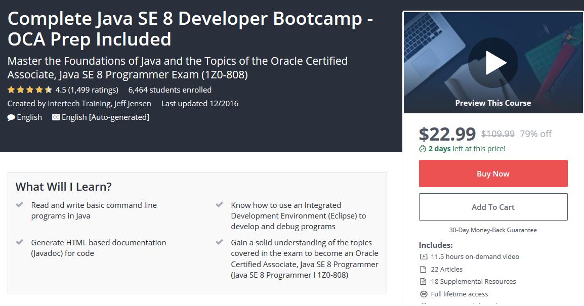 Top 5 Java 8 Certifications Courses To Prepare Ocajp 1z0 808 Exam