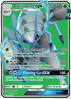 Golisopod GX Burning Shadows Pokemon Card