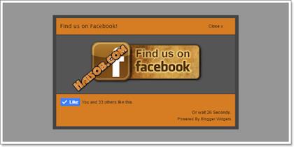 Cara membuat likebox fanspage popup dan waktu terbaru