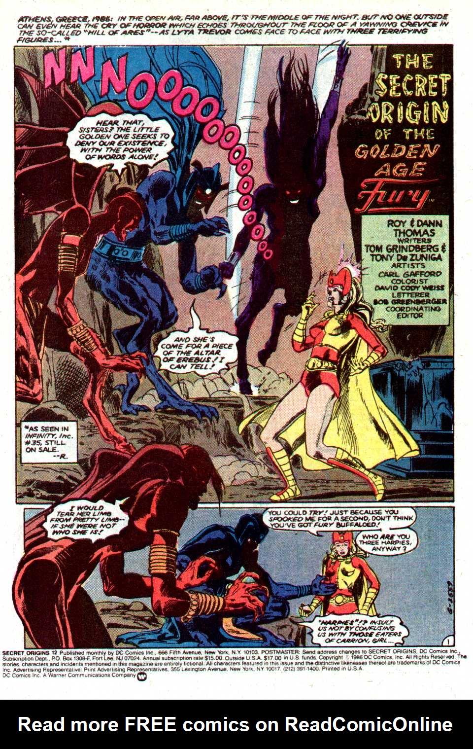Read online Secret Origins (1986) comic -  Issue #12 - 2