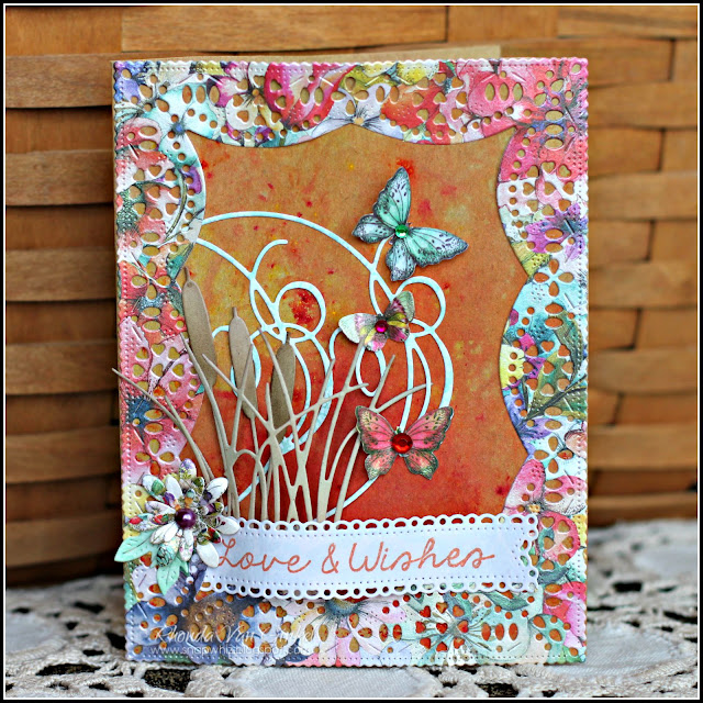 Love and Wishes Card featuring C'est Magnifique August Card Kit including Bohemian Collection by Dovecraft designed by Guest Designer Rhonda Van Ginkel