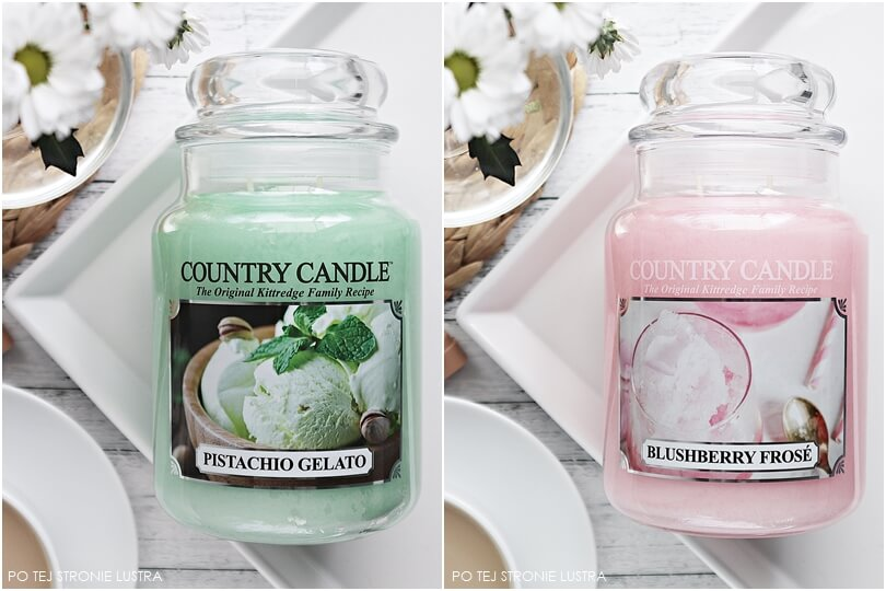 country candle pistachio gelato i blushberry frose