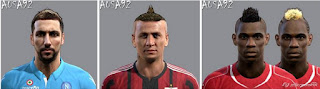 Faces: 1.Higuain 2.Mexes 3.Balotelli