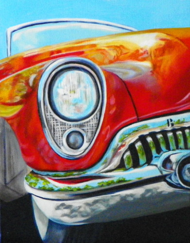 Still life artists international wild fire vintage car for Auto painting az